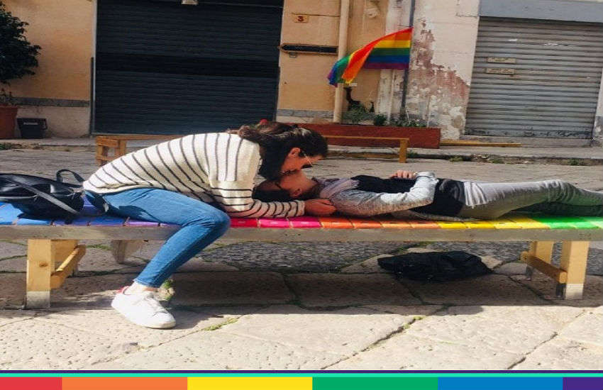 This bench is giving some LGBTI equality to Palermo | Photo: Palermo LGBT