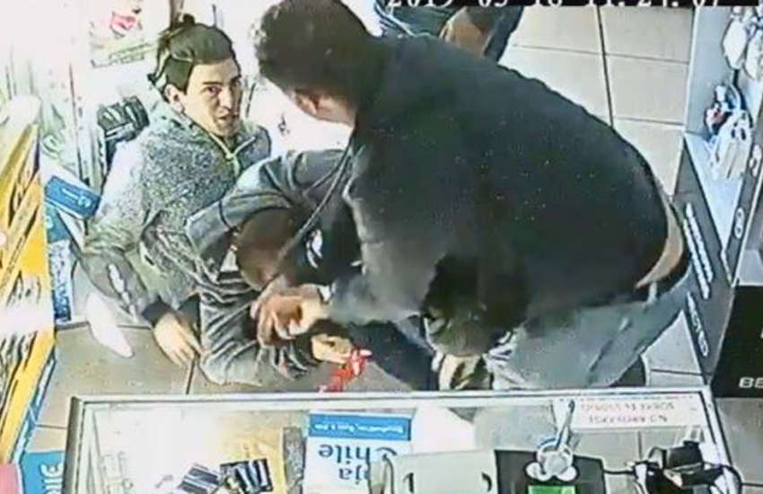 CCTV footage of the attack in Chile (Photo: YouTube)