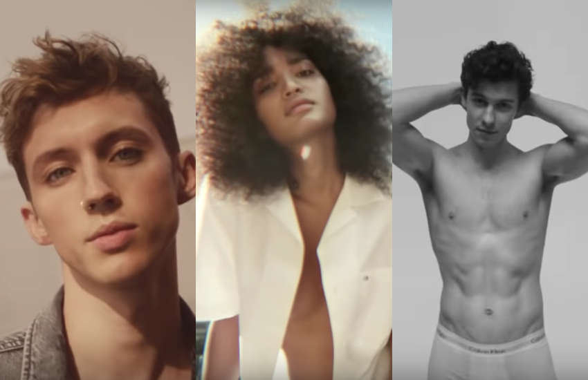 Troye Sivan, Indya Moore and Shawn Mendes for new Calvin Klein advert