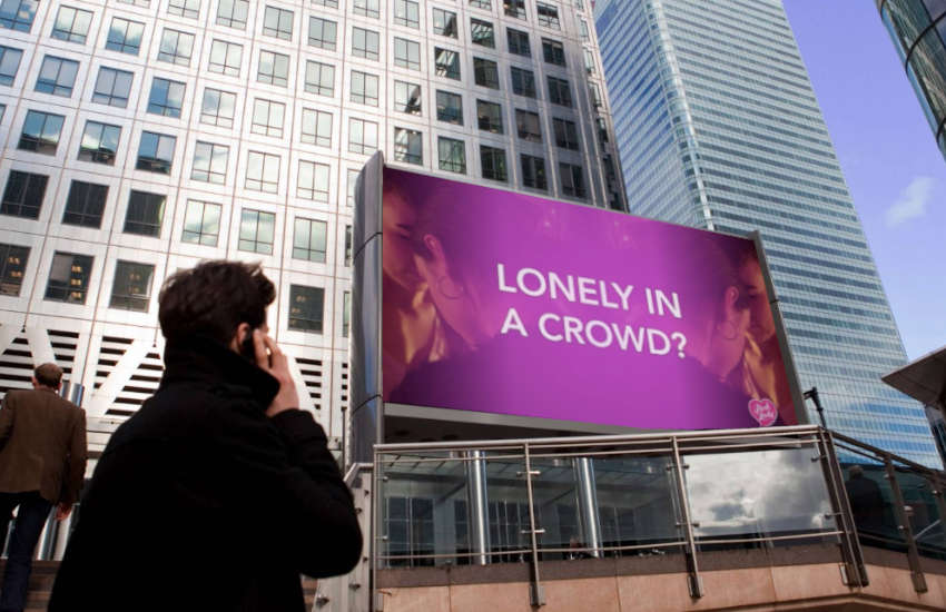 A Digital Pride video at Canary Wharf in London