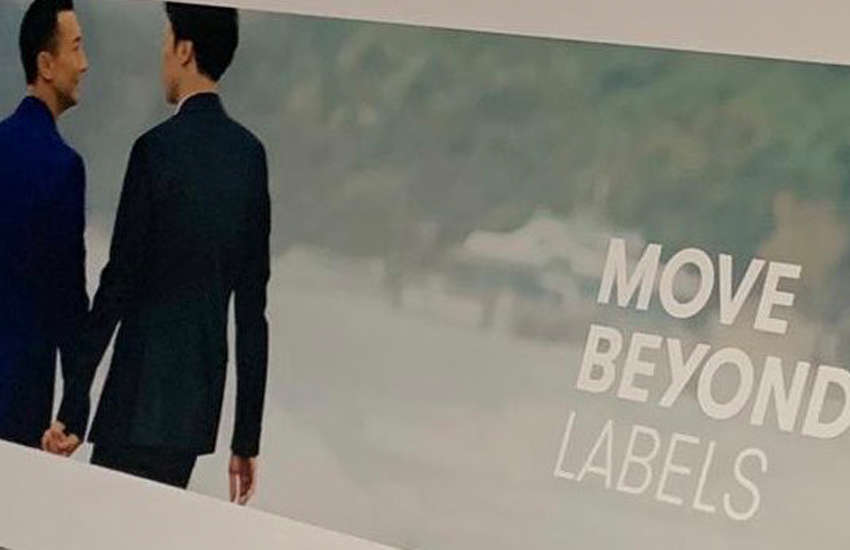 Cathay Pacific's new ad in Hong Kong (Photo: Twitter)