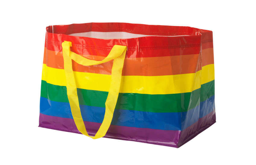 You can now buy an IKEA rainbow bag | Photo: IKEA US