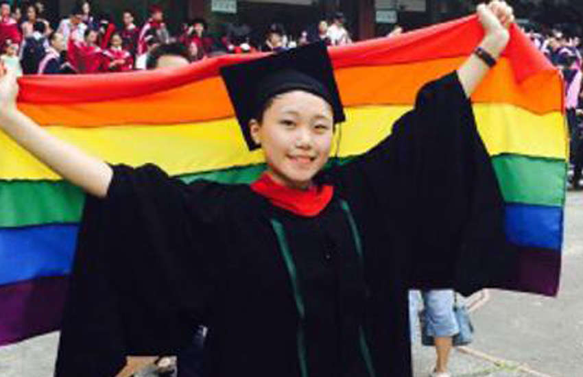 In 2015, Wan Qing came out at her graduation ceremony (Photo: Weibo)
