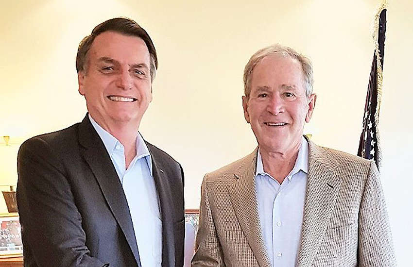 Jair Bolsonaro and George W Bush (Photo: Twitter)