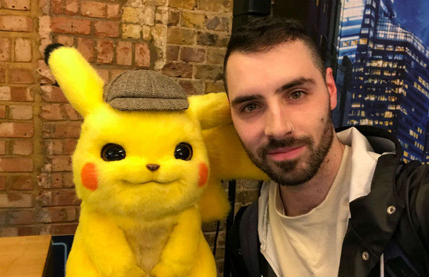 James with Detective Pikachu