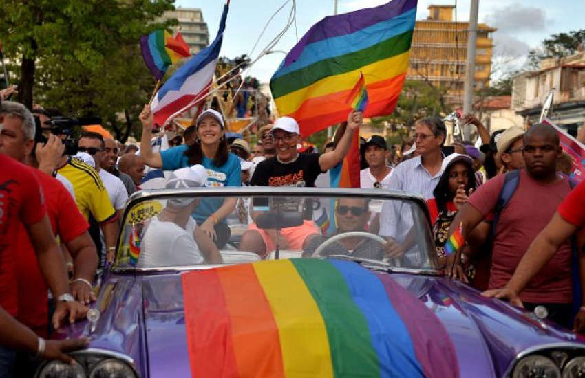 Mariela Castro, the daughter of Communist Party leader Raul Castro and one of Cuba's most vocal proponents for LGBTI rights, at an LGBTI pride event in Cuba (Photo: Twitter)
