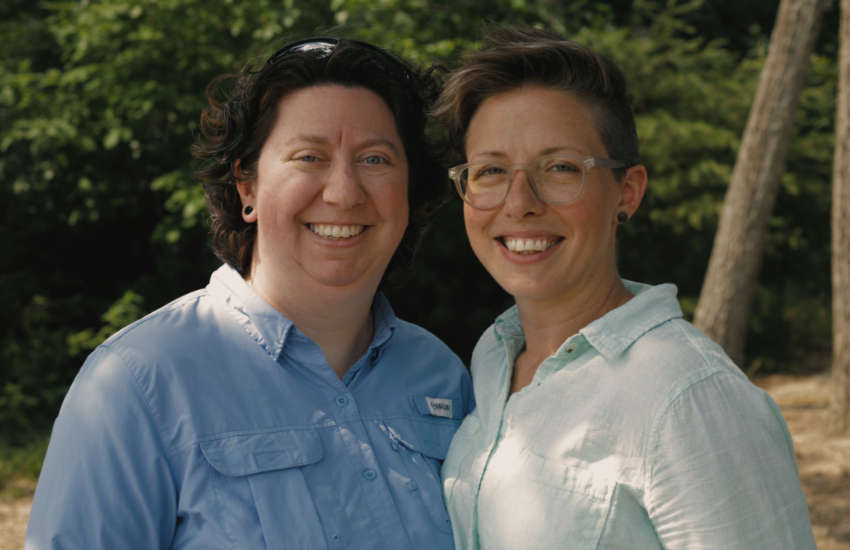Lesbian couple Eden Rogers and Brandy Welch
