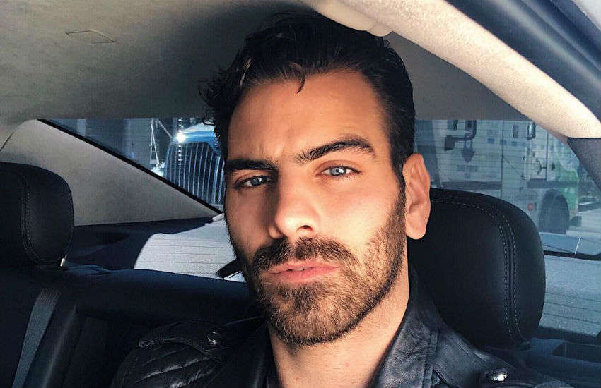 Nyle DiMarco in a car between meetings