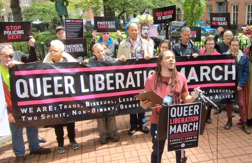 Organizers of the Queer Liberation March in New York (Photo: YouTube)