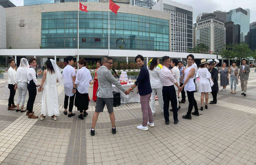 Same-sex marriage campaigners in Hong Kong (Photo: Facebook)