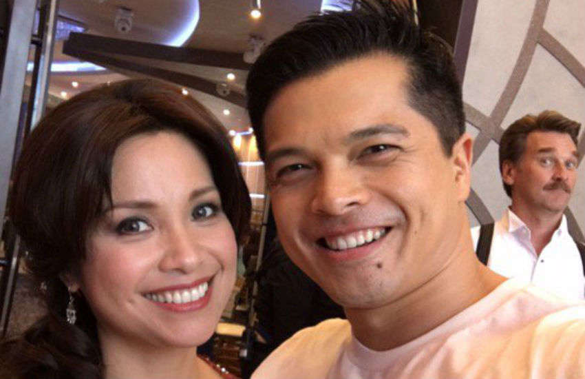 Lea Salonga and Vincent Rodriguez III on the set of Crazy Ex-Girlfriend | Photo: Instagram