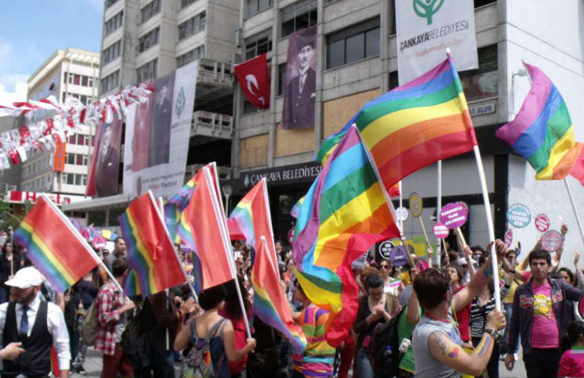 A Pride march in Ankara.
