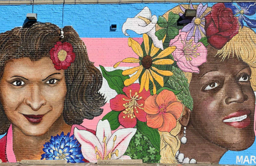 Mural in Dallas, Texas, that features Sylvia Rivera and Marsha P. Johnson, to raise awareness around trans violence