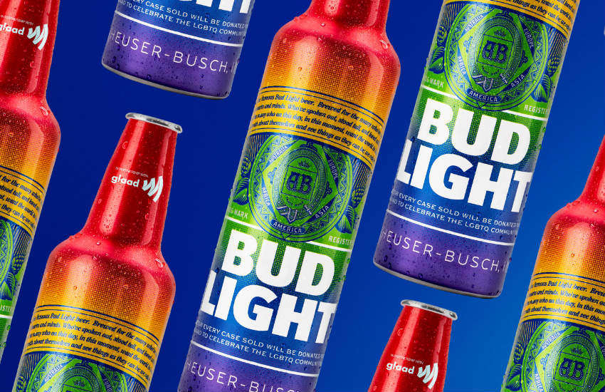 Bud Light first-ever rainbow bottle