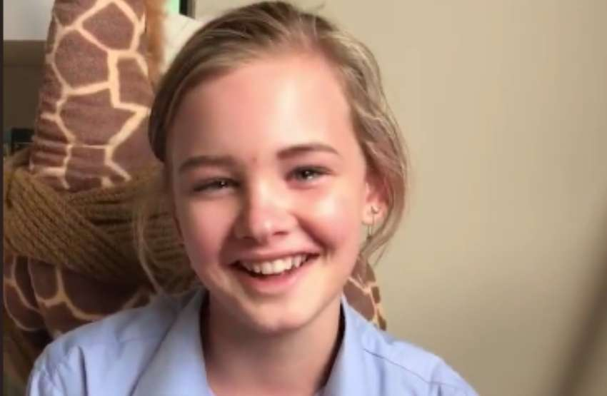 Evie Macdonald finds out she can start hormone treatment and is smiling and crying