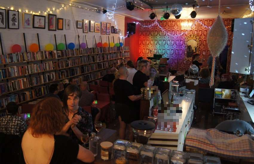Hares and Hyenas is a popular queer bookshop and bar, it often runs drag nights and book readings