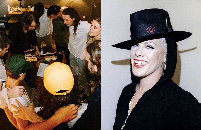 Hillsong UNITED and Pink | Photo: Instagram/hillsongunited and RCA Records