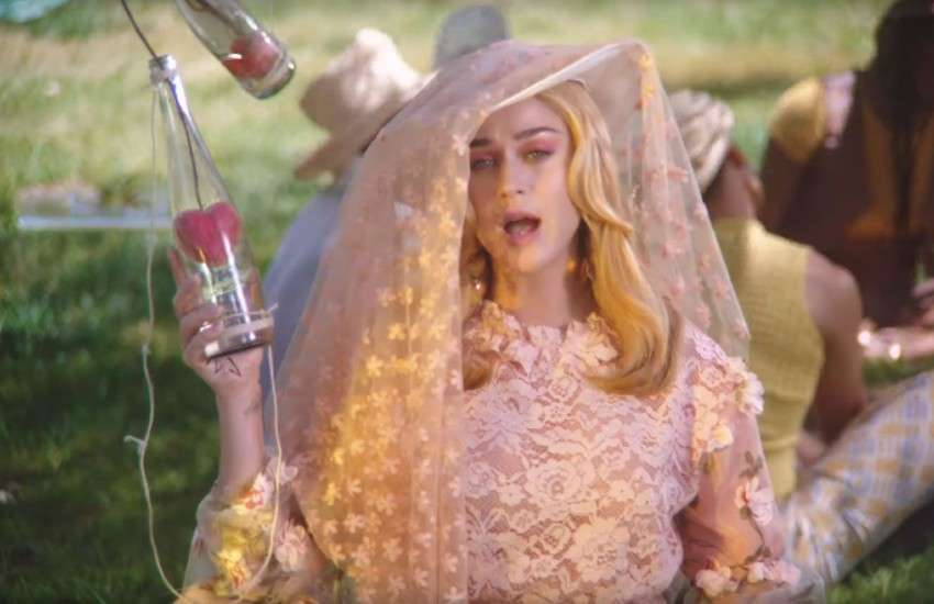 Katy Perry in the video for Never Really Over.