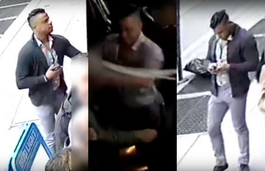 CCTV cameras captured the incident, alongside the assailant walking into the bar
