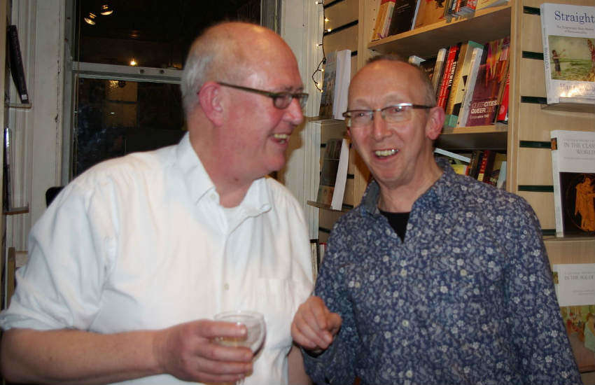 Gay activist Peter Scott-Presland and Jim MacSweeney.