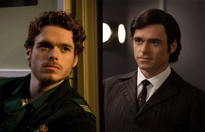 Richard Madden in 2011's Sirens and this year's Rocketman | Photos: Channel 4/Paramount