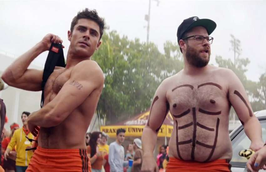 Actor Seth Rogen (right) with Zac Efron in Bad Neighbours 2