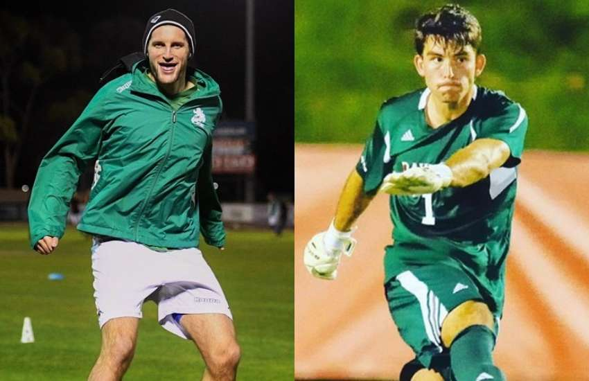 australian soccer star Andy Brennan (left) and US soccer star Matt Pacifici have both come out as gay this year