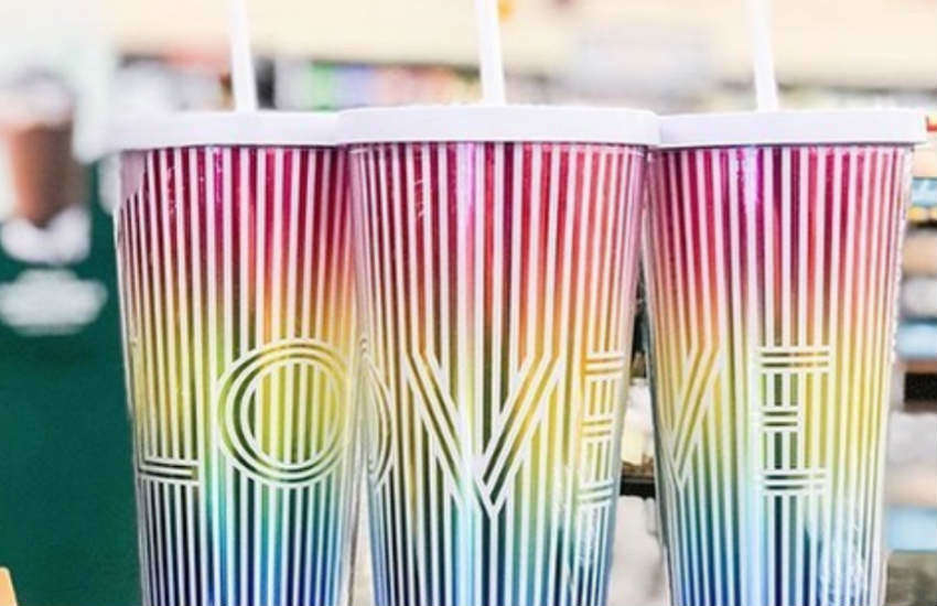 The new Starbucks tumbler for Pride 2019.