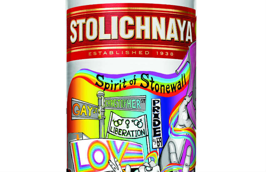 Stoli Vodka limited edition Stonewall bottle.