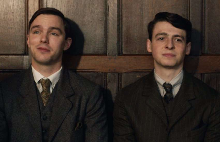 Nicholas Hoult (L) and Anthony Boyle as Tolkien and Geoffrey Smith in biopic Tolkien