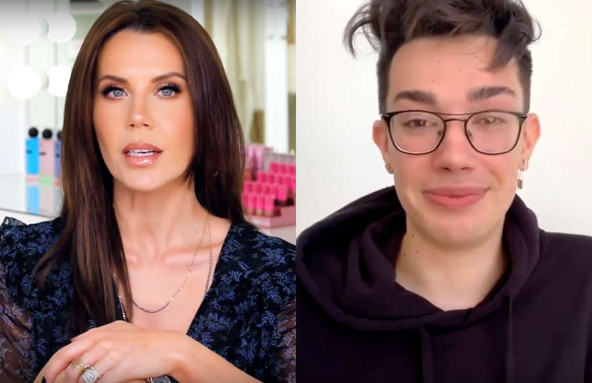 YouTubers Tati Westbrook (left) and James Charles aired their laundry in a public way