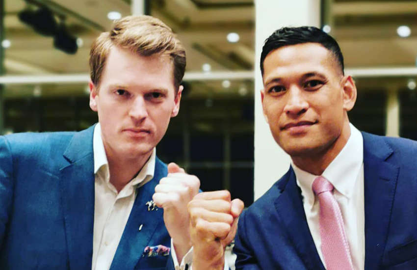 ACL Managing Director Martin Iles and Israel Folau (Photo: Facebook)