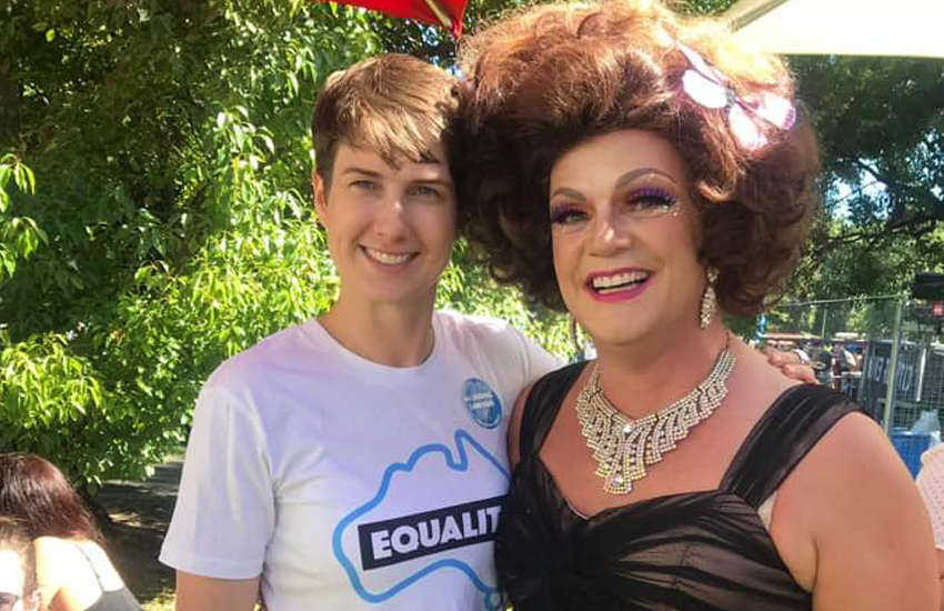 CEO of Equality Australia Anna Brown (left)