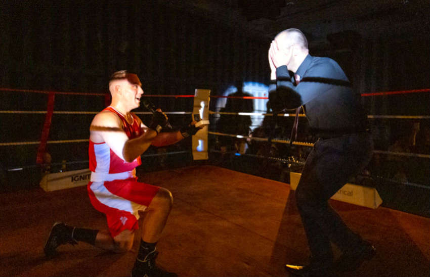 Boxer proposes to his partner of 11 years   Photo: Supplied