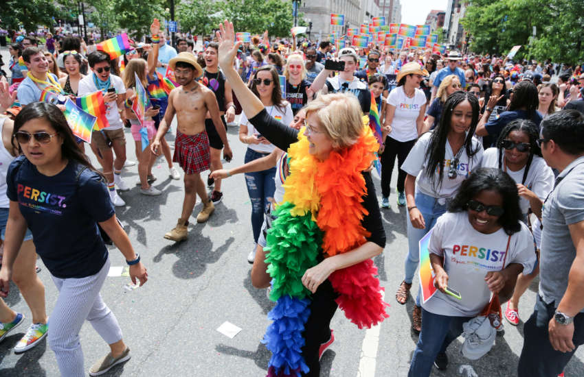 Elizabeth Warren at Pride