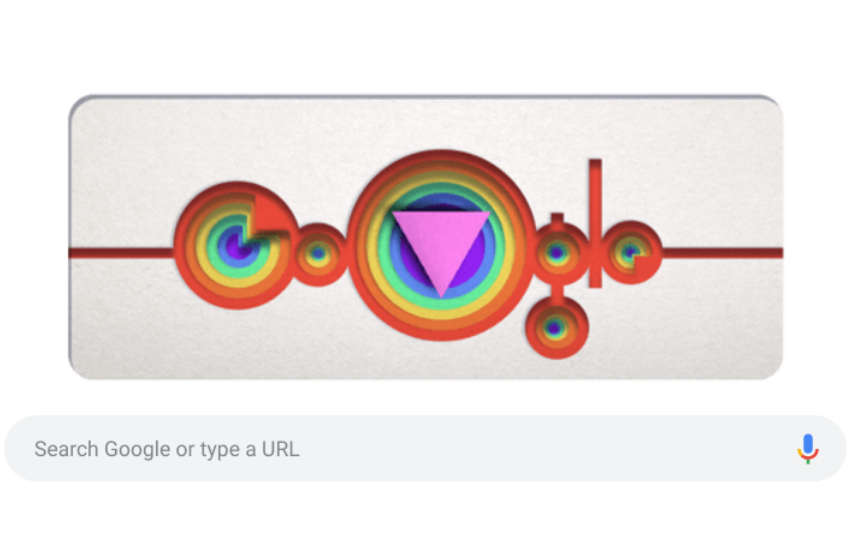 Google Doodle celebrating Pride month