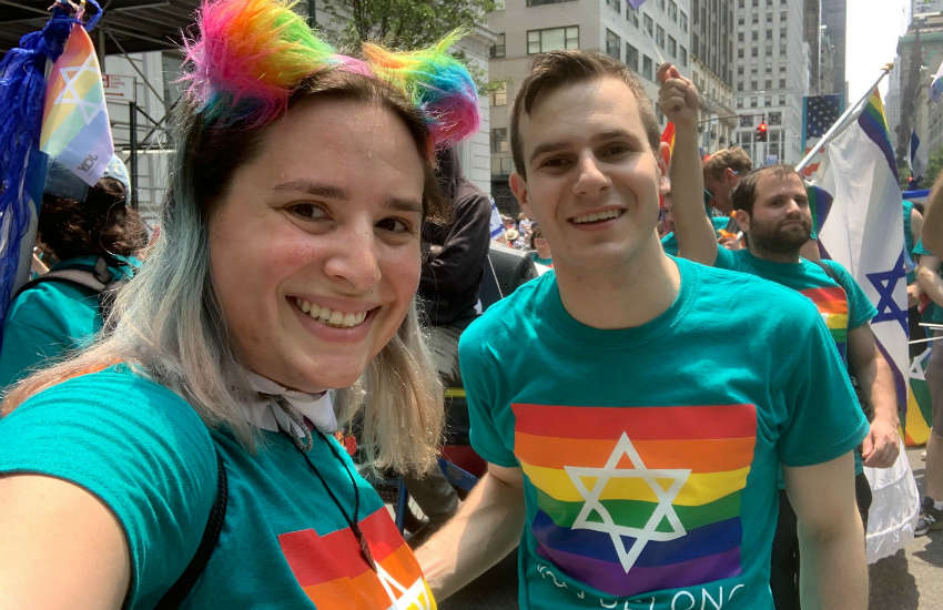Hannah Simpson (left) and Peter Fox together at the Celebrate Israel parade in NYC | Photo: Provided