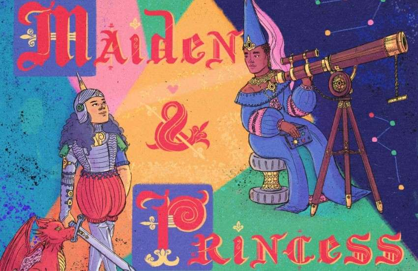 The cover of the children's book Maiden and Princess