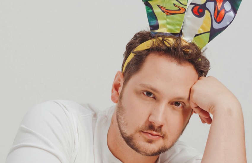 Matt McGorry models limited edition Playboy bunny ears