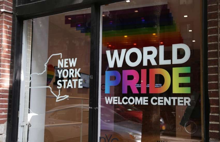 The WorldPride Welcome Center in New York City