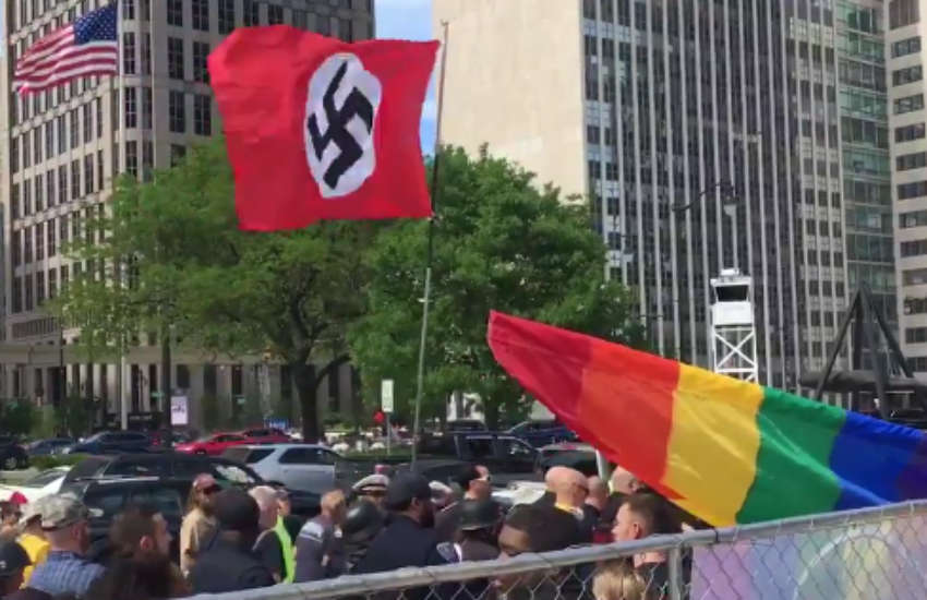 Neo-Nazis crash Detroit Pride on Saturday, 8 June