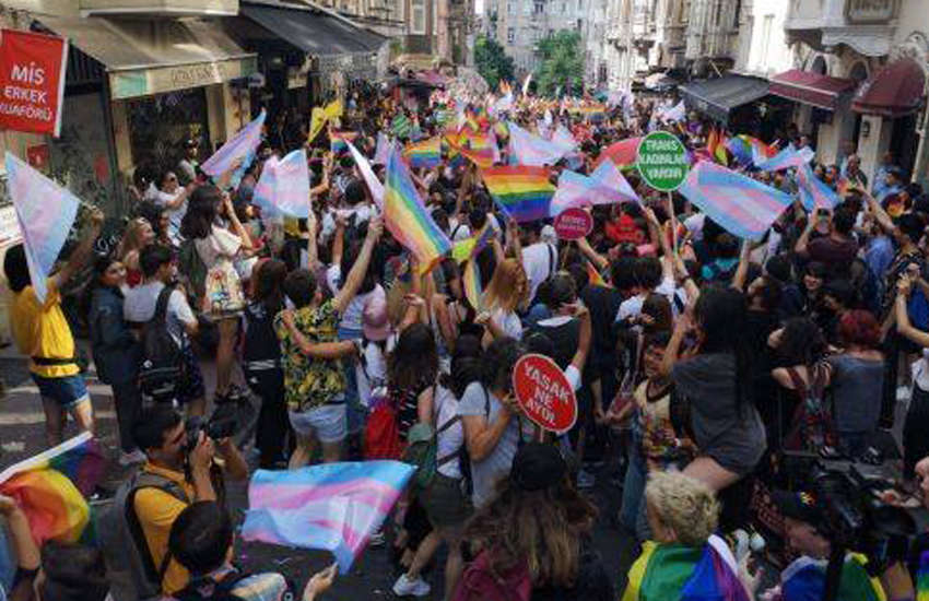 Pride marchers in Istanbul defy a ban to speak up for LGBTI rights. (Photo: Istanbul LGBTI+ Pride Week)
