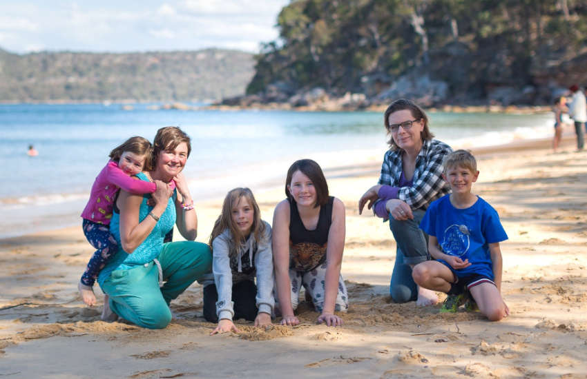 Trans and gender diverse parents on the beach
