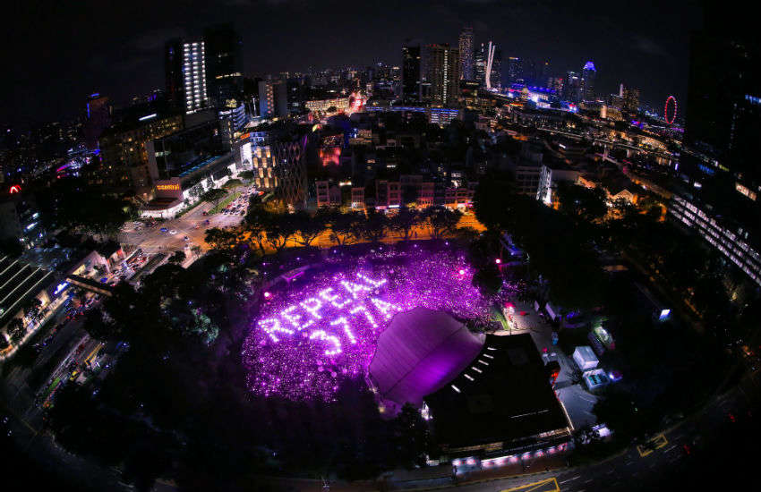 Singaporeans attend Pink Dot 2019