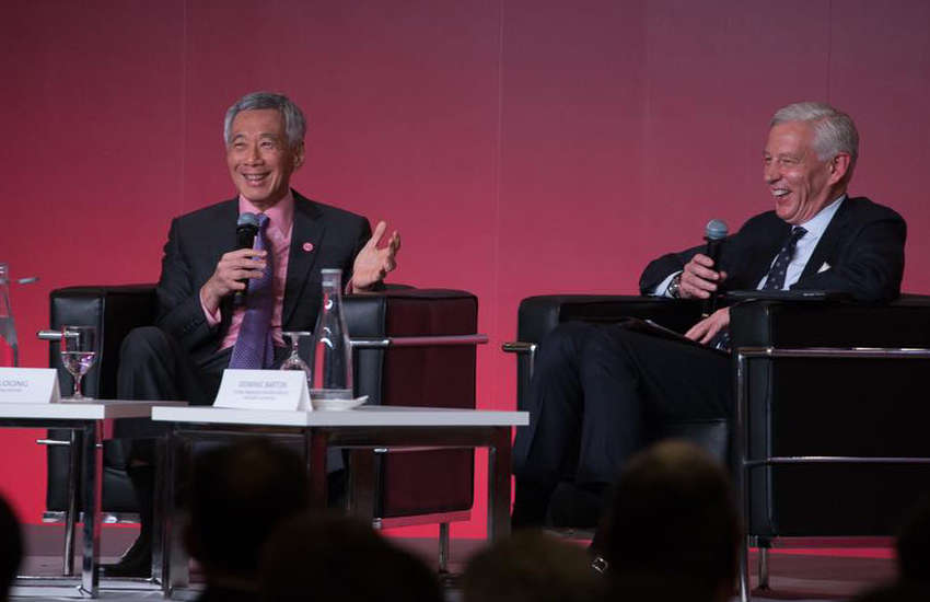 Singapore's Prime Minister Lee Hsien Loong at the Smart Nation Summit (Photo: Facebook)
