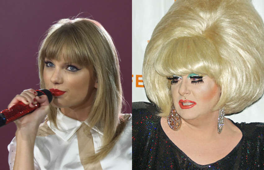 Taylor Swift (left) and Lady Bunny (right)