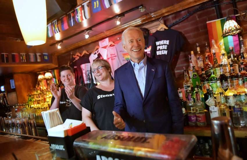 Joe Biden at the stonewall inn