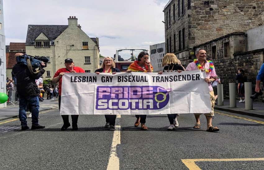 Trans folk and allies fronted the 22nd Pride Parade in Edinburgh | Picture: Josh Milton / Gay Star News