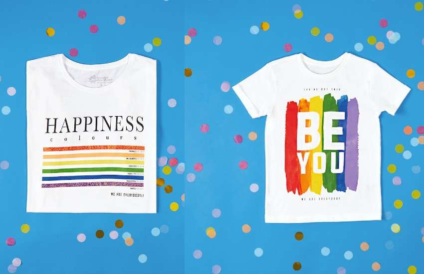Two of the three t-shirts launched by George at Asda in partnership with Diversity Role Models for Pride.