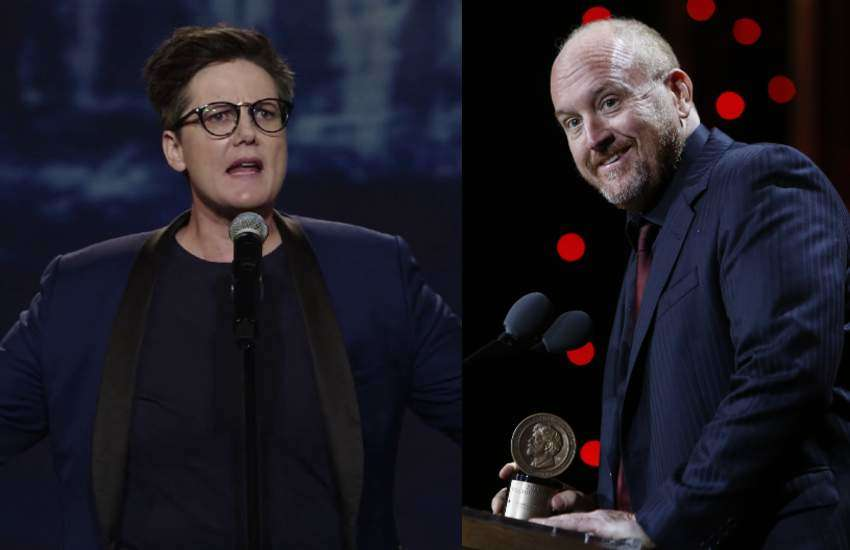 Hannah Gadsby and Louis C.K.
